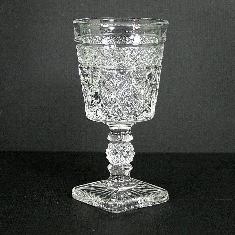 Imperial Glass Ohio Cape Cod Clear (1602 + 160) Low Water Goblet