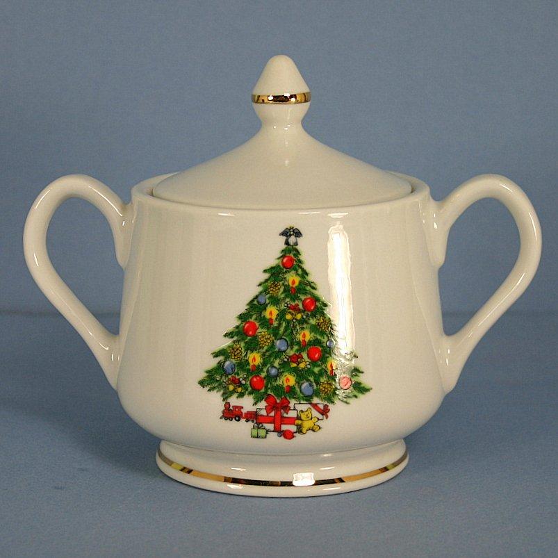 Mount Clemens Christmas Treasure Sugar Bowl & Lid