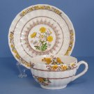 Spode Buttercup (Newer Backstamp) Flat Cup & Saucer Set