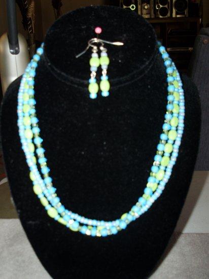 3 line necklace