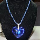 Blue heart pendant