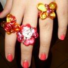 acrylic & aluminum rings