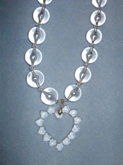 clear acrylic heart
