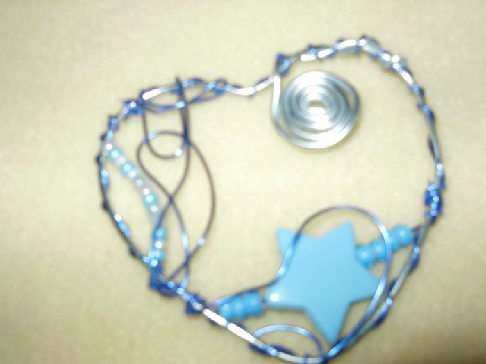 blue aluminum necklace