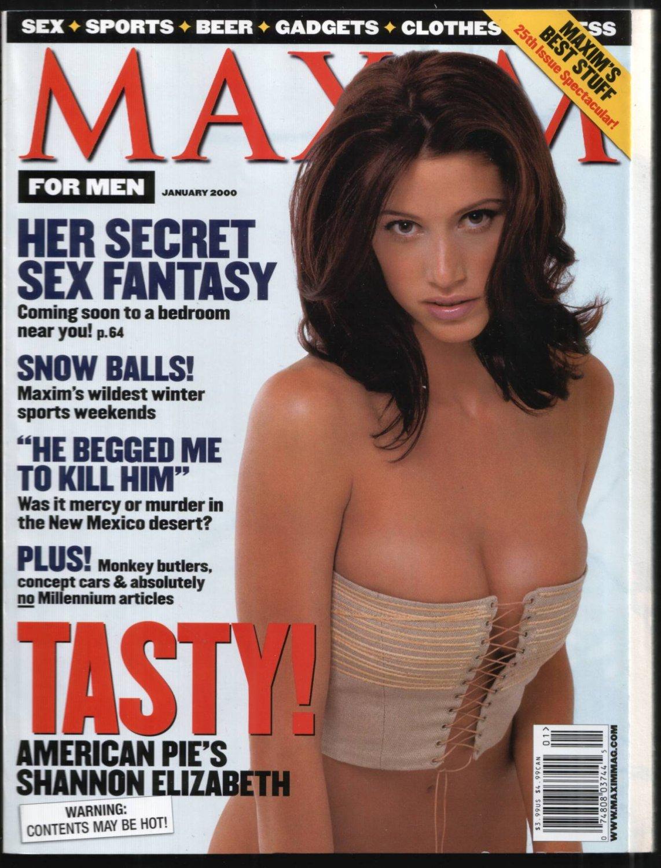 MAXIM MAGAZINE SHANNON ELIZABETH MARIA GRAZIA CUCINOTTA 1/2000