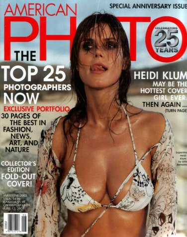 HEIDI KLUM AMERICAN PHOTO 25TH ANNIVERSARY ISSUE MAY/JUNE 2003
