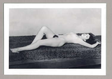 BETTY PAGE TOPLESS NUDE BREASTS HAIRY PUSSY NEW REPRINT 5X7  #2