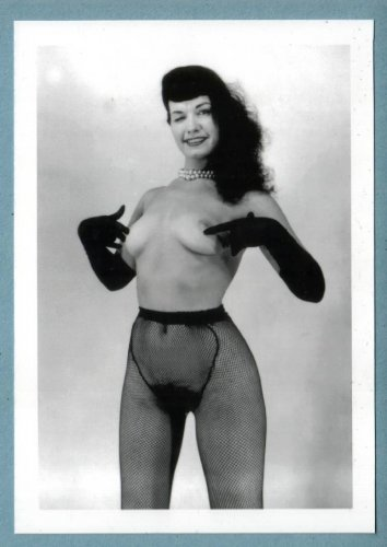 BETTY PAGE TOPLESS NUDE BREASTS HAIRY PUSSY NEW REPRINT 5X7  #173