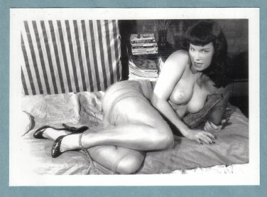 BETTY PAGE TOPLESS NUDE BREASTS NEW REPRINT 5X7  #302