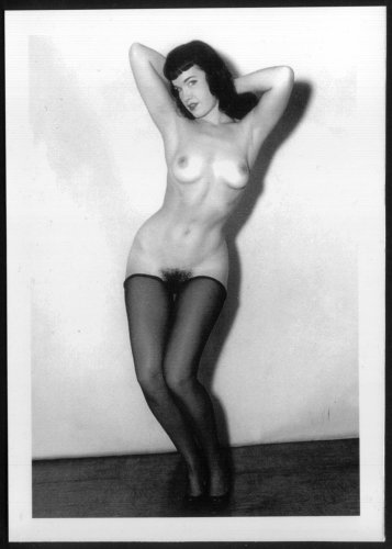BETTY PAGE TOPLESS NUDE BREASTS HAIRY PUSSY NEW REPRINT 5X7  #630