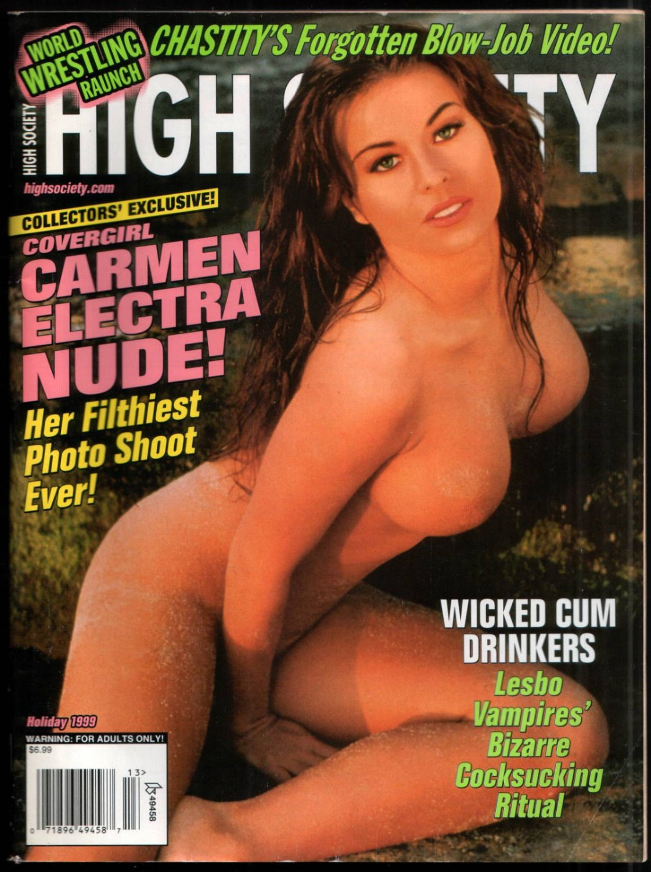 CARMEN ELECTRA HIGH SOCIETY MAGAZINE HOLIDAY ISSUE 1999