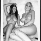 LUCY PINDER & BLONDE TOPLESS NUDE NEW REPRINT PHOTO 5X7   #10