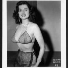 BURLESQUE STRIPPER DORIAN DENNIS BUSTY BOSOMY POSE IRVING KLAW VINTAGE ORIGINAL PHOTO 4X5 #27