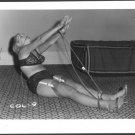 BLONDE FETISH BONDAGE MODEL VINTAGE ORIGINAL IRVING KLAW PHOTO 4X5  #COL-9