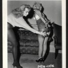 2 BLONDE FETISH BONDAGE MODELS VINTAGE ORIGINAL IRVING KLAW PHOTO 4X5 #PEN-106