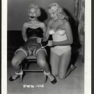 2 BLONDE FETISH BONDAGE MODELS VINTAGE ORIGINAL IRVING KLAW PHOTO 4X5 #PEN-116
