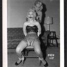 2 BLONDE FETISH BONDAGE MODELS VINTAGE ORIGINAL IRVING KLAW PHOTO 4X5 #PEN-117