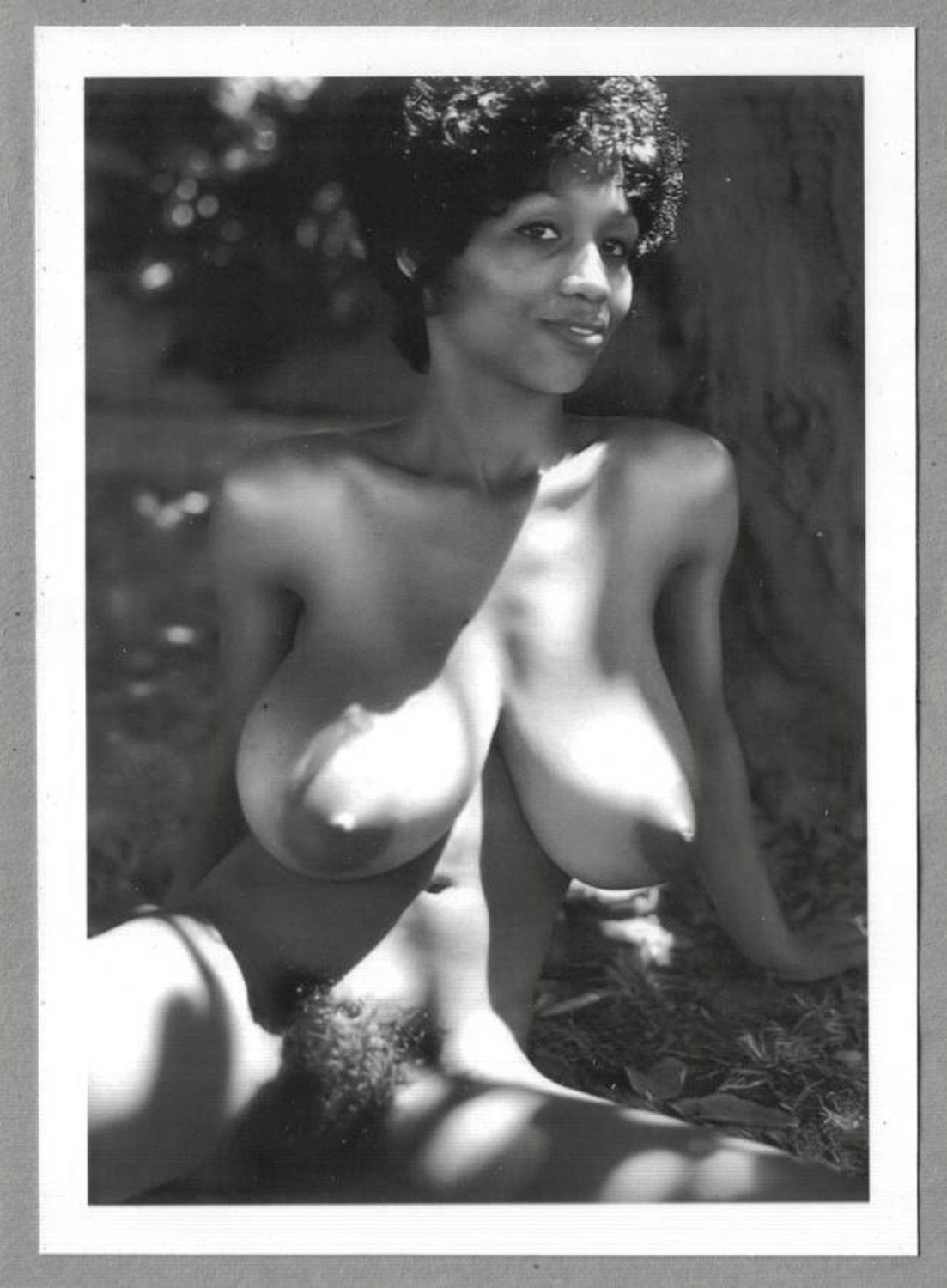 EBONY SYLVIA MCFARLAND TOPLESS NUDE HUGE BREASTS HAIRY PUSSY NEW REPRINT 5X7 SM-22