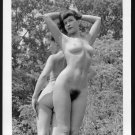 BETTY PAGE & PAL TOTALLY NUDE BREASTS HAIRY PUSSY NEW REPRINT 5X7  #642