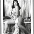 BETTY PAGE TOTALLY NUDE BREASTS HAIRY PUSSY NEW REPRINT 5X7  #592