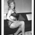 VIRGINIA BELL BUSTY IN BLACK BRA PANTIES POSE NEW REPRINT 5 X 7 #66