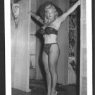 VIRGINIA BELL BUSTY BOSOMY BLACK BRA PANTIES POSE NEW REPRINT 5 X 7 #182