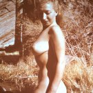 HOT BABE TOTALLY NUDE LARGE BREASTS VINTAGE ORIGINAL COLOR SLIDE 1950'S #0029