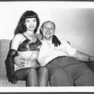 BETTY PAGE & IRVING KLAW RELAXING AFTER PHOTO SHOOT 5X7 REPRINT