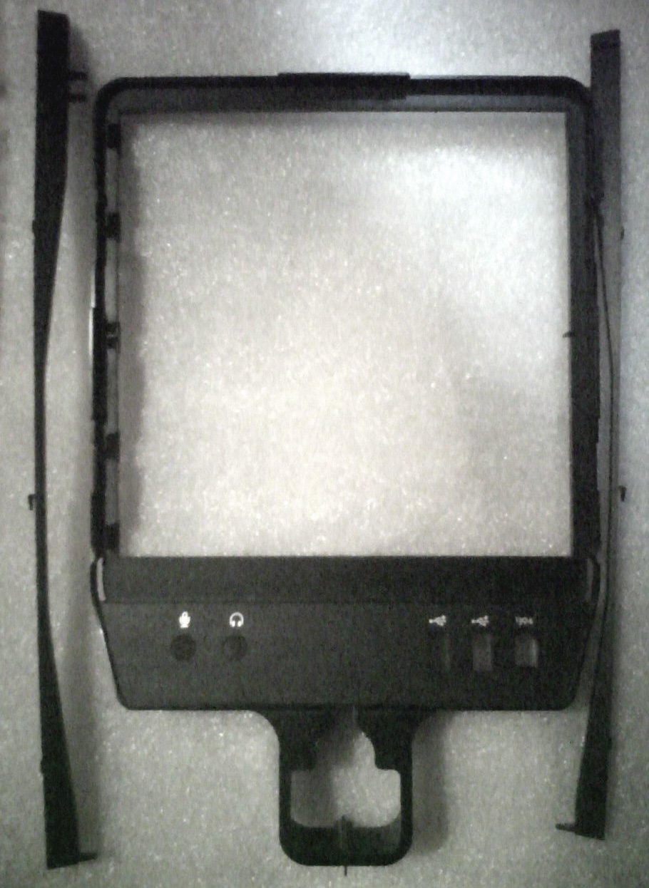 USA BUYERS ONLY: DELL FRONT BEZEL MC192 AND SIDE MOUNTS YF114 FOR T7500 PRECISION USED CONDITION