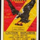 BLACK HAWK FIRECRACKER PACK LABEL 16'S ICC CLASS C MACAU VINTAGE 1960'S RARE