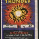 FLASHING THUNDER FIRECRACKER PACK DOT CLASS C 40 LABEL VINTAGE RARE