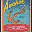 ANCHOR FIRECRACKER SINGLE PACK LABEL 20'S ICC CLASS C MACAU 1960'S VINTAGE RARE
