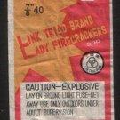 LINK TRIAD FIRECRACKER ONE PACK LABEL 7/8 40 DOT CLASS C KWANGSI CHINA VINTAGE