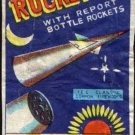 ROCKET BRAND WITH REPORT BOTTLE ROCKETS ICC CLASS C MACAU VINTAGE 1960'S RARE