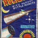 ROCKET BRAND WITH REPORT BOTTLE ROCKETS ICC CLASS C MACAU VINTAGE 1960'S RARE