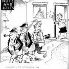 """VINTAGE ORIGINAL NEWSPAPER COMIC STRIP ART """"NUTS AND JOLTS"""" BILL HOLMAN 03-13-68"""