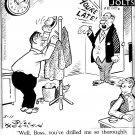 """VINTAGE ORIGINAL NEWSPAPER COMIC STRIP ART """"NUTS AND JOLTS"""" BILL HOLMAN 03-11-68"""