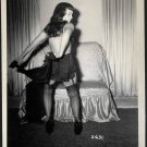 BETTY PAGE BOOTY IN BLACK LACE POSE IRVING KLAW VINTAGE PHOTO 4X5 #2631