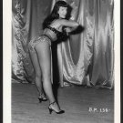 BETTY/BETTIE PAGE VINTAGE IRVING KLAW PHOTO 4X5  BP-138
