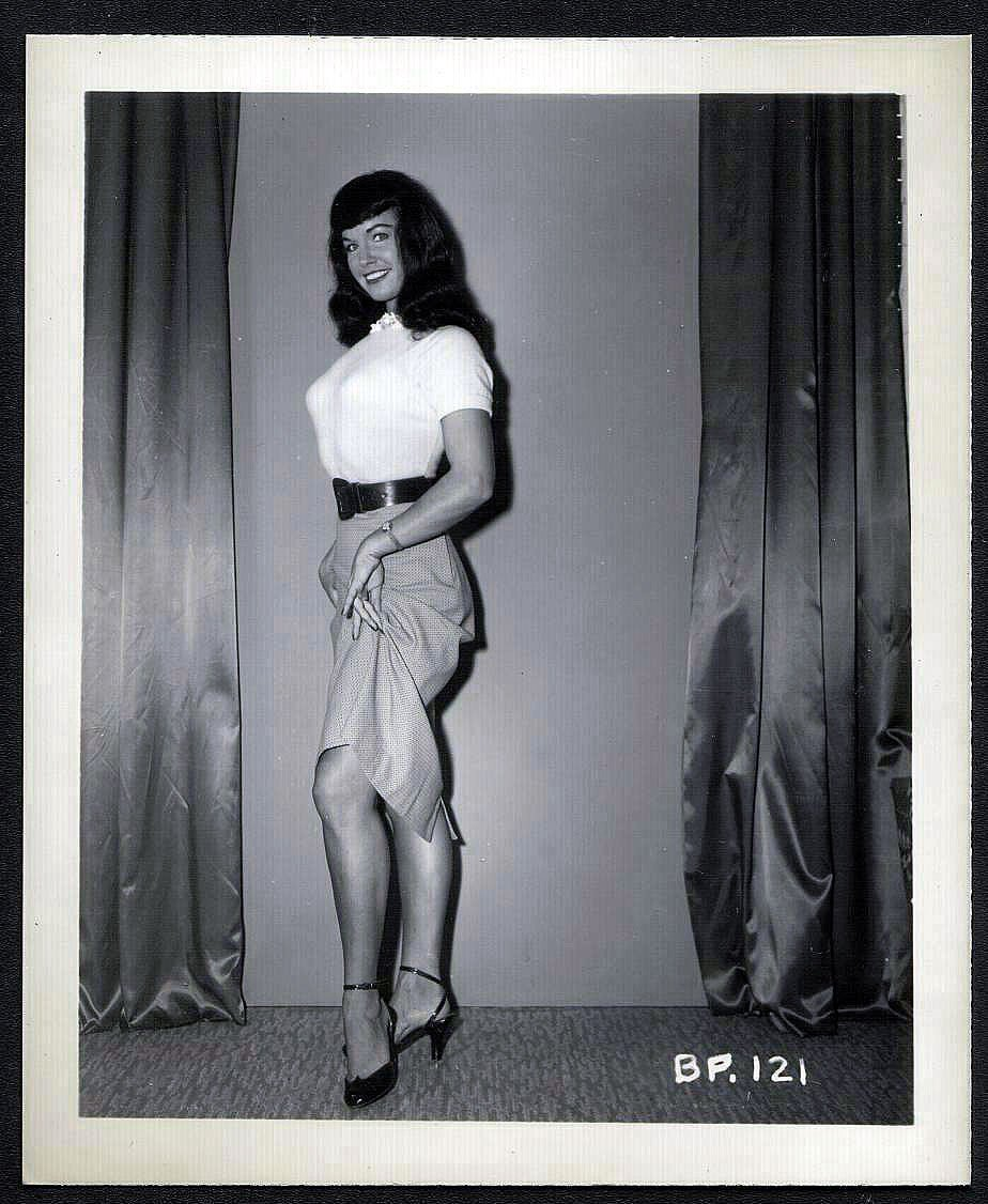 BETTY/BETTIE PAGE VINTAGE IRVING KLAW PHOTO 4X5  BP-121