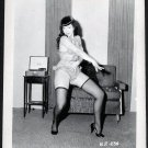 BETTY PAGE BOSOMY LEGGY POSE IRVING KLAW VINTAGE PHOTO 4X5  BP-234