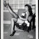 BETTY PAGE LEGGY POSE IRVING KLAW VINTAGE PHOTO 4X5  #1638