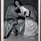 BETTY PAGE SEXY BOOTY POSE IRVING KLAW VINTAGE PHOTO 4X5  #2098