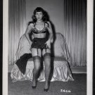 BETTY PAGE SEXY BOSOMY POSE IRVING KLAW VINTAGE PHOTO 4X5  #2626