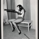 BETTY PAGE BENCH POSE IRVING KLAW VINTAGE PHOTO 4X5   BP-312