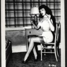 BETTY PAGE BUSTY BRA POSE IRVING KLAW VINTAGE PHOTO 4X5  R-803