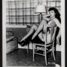 BETTY PAGE BLACK BRA POSE IRVING KLAW VINTAGE PHOTO 4X5  R-799