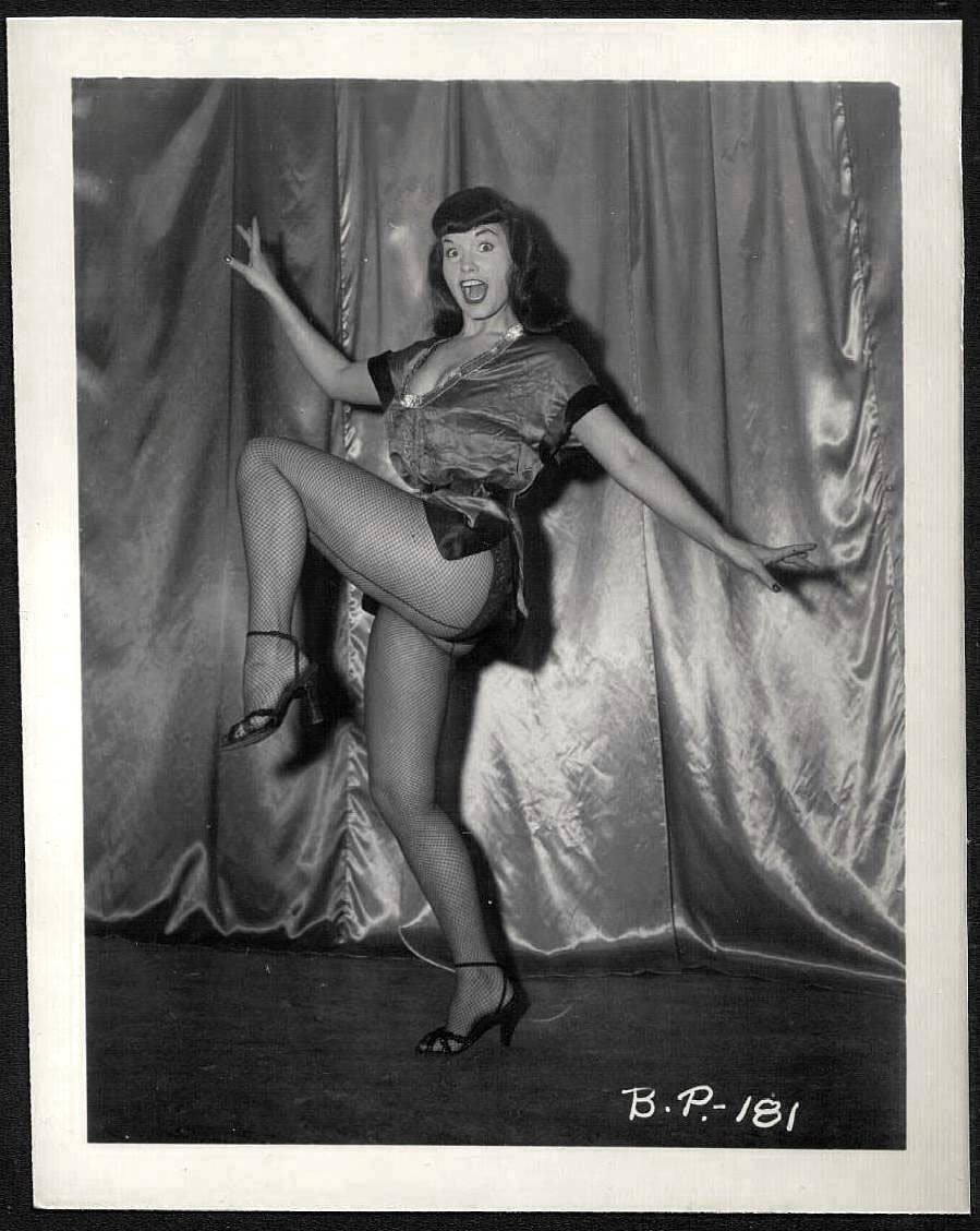 BETTY/BETTIE PAGE VINTAGE IRVING KLAW PHOTO 4X5 BP-181