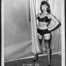 BETTY PAGE BLACK BRA PANTIES POSE IRVING KLAW VINTAGE PHOTO 4X5 #22
