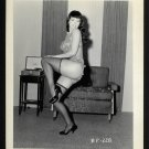 BETTY PAGE CHEEKY POSE IRVING KLAW VINTAGE PHOTO 4X5  BP-228